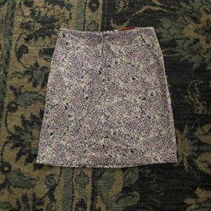 Vintage SO violet floral skirt